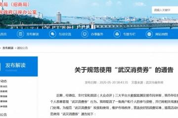 武汉禁止歹意套现消费券违规者将被列入失期名单